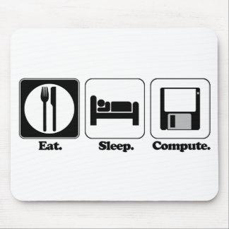 coma o computador do sono mouse pad