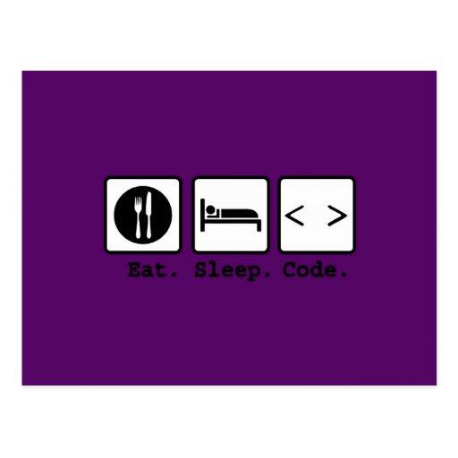 coma o desgaste do nerd do código do sono cartão postal