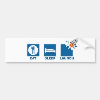 Coma o lançamento do sono adesivo para carro
