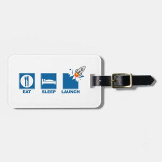 Coma o lançamento do sono etiquetas para malas de viagem