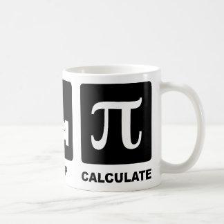 Coma o sono calculam caneca de café