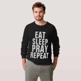 COMA o SONO PRAY t-shirt do cristão da REPETIÇÃO