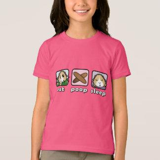 Coma o t-shirt das crianças da cobaia do sono do