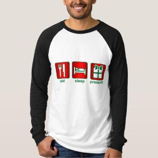 Coma presentes do sono t-shirts