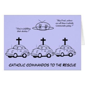 Comandos católicos ao salvamento cartão de nota