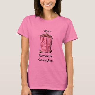 Comédias românticas dos gostos t-shirt