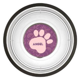 Comedouro Para Cachorro DIY criam seu próprio teste padrão cor-de-rosa