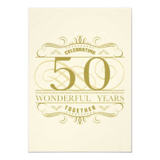 Comemorando o 50th aniversário convite 12.7 x 17.78cm