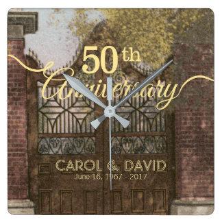 Comemorando o 50th aniversário. Vintage Charleston Relógio Quadrado