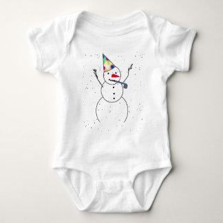 Comemorando o tshirt do boneco de neve
