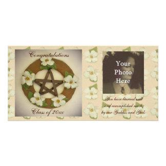 Comemorativo floral da grinalda do Pentacle do Dog Cartao Com Fotos