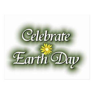 Comemore o Dia da Terra Cartoes Postais
