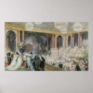 Comensal no Tuileries, 1867 Poster