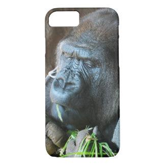 Comer japonês do gorila do ~ da capa do macaco