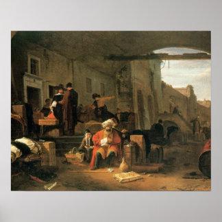 Comerciantes de Holland e da troca de Médio Orient Poster