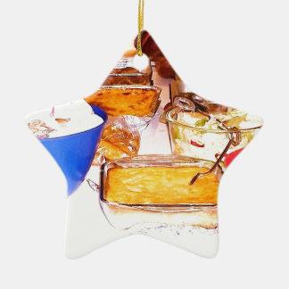 comida da imagem de lynnfood.JPG para a cozinha ou Ornamento De Cerâmica Estrela