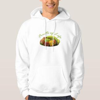 Comida saudável, bandeja das frutas das maçãs, moletom