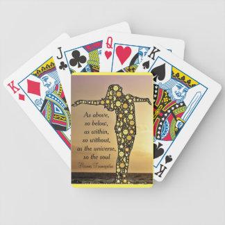 COMO ACIMA, ASSIM ABAIXO dos cartões de jogo Baraloho De Pôquer