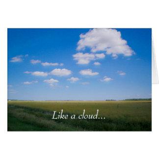 """""""Como cartão do poema de uma nuvem"""""""