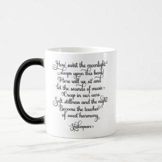 Como doce o luar, citações de Shakespeare Caneca Mágica