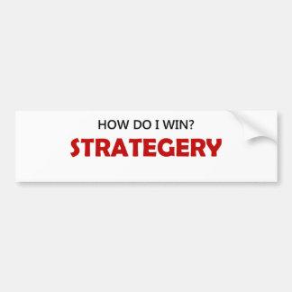 Como eu ganho? Strategery Adesivo Para Carro