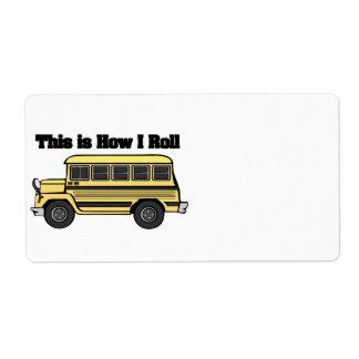 Como eu rolo (o auto escolar) etiqueta de frete