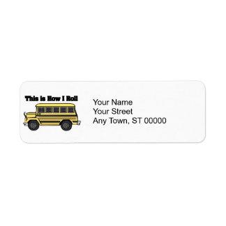 Como eu rolo (o auto escolar) etiqueta endereço de retorno