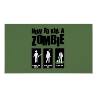 Como matar um zombi pôster