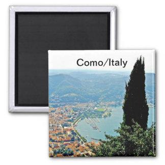 Como no ímã da lembrança de Italia Ímã Quadrado