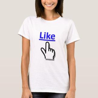 Como o botão t-shirts