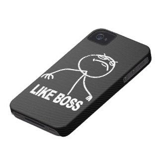 Como o meme do chefe na fibra do carbono do falso capa para iPhone 4 Case-Mate
