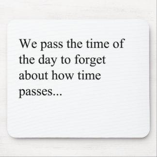 Como o tempo passa mousepads