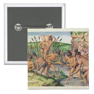 Como os indianos recolhem o ouro dos córregos bóton quadrado 5.08cm