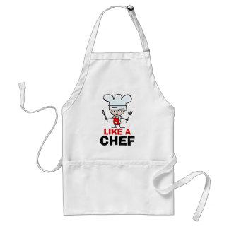 Como um avental do cozinheiro chefe para o branco