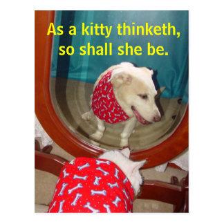 Como um thinketh do gatinho… cartão postal