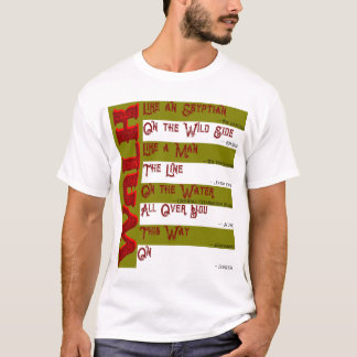 Como você andará hoje? O t-shirt dos homens
