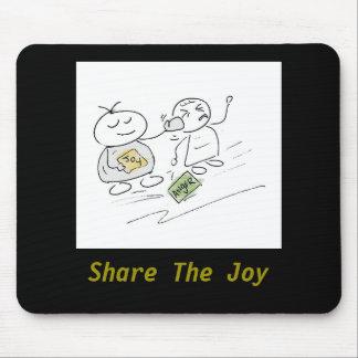 Compartilhe dos desenhos animados engraçados mouse pad