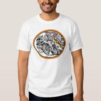 Competência da motocicleta da velha escola t-shirts