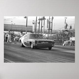 Competência do arrasto do vintage - carro 1969 Jav Poster