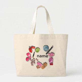 Compo a menina para personalizar cosméticos sacola tote jumbo