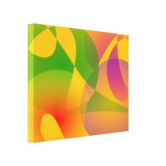 Composição abstrata amarela impressão em tela