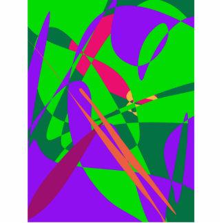 Composição abstrata do azul e do verde escultura de fotos