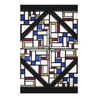 Composição com a janela com vidro colorido III Papelaria
