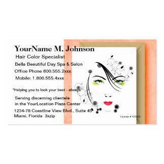 Composição e cabelo dos termas do salão de beleza cartão de visita
