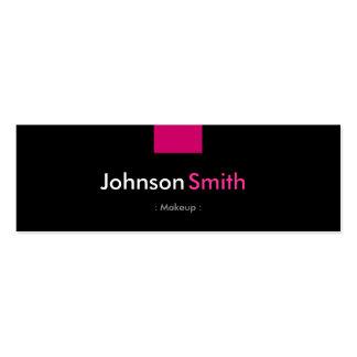 Composição - estojo compacto do rosa cor-de-rosa cartão de visita skinny