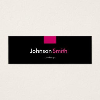 Composição - estojo compacto do rosa cor-de-rosa cartão de visitas mini