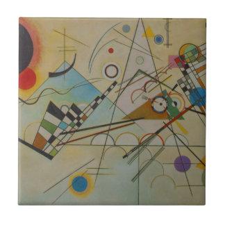 Composição VIII de Kandinsky Azulejo Quadrado Pequeno