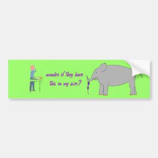 Compra do elefante adesivo para carro