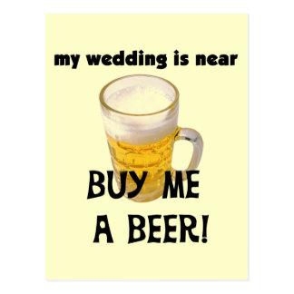 Compre-me um despedida de solteiro da cerveja cartão postal