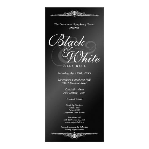 Comprimento incorporado do chá da dança preta & br convite
